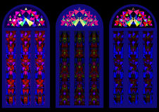 Beautiful colorful stained-glass windows Royalty Free Stock Images