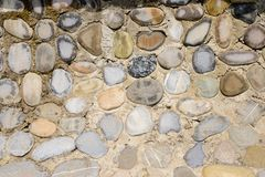 Colorful stones in the wall royalty free stock image