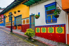 Beautiful and colorful streets in Guatape, known Royalty Free Stock Images