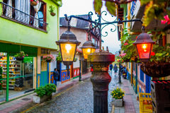 Beautiful and colorful streets in Guatape, known royalty free stock photos