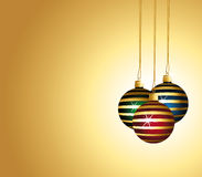 Beautiful and colorful striped ornaments. Stock Photo