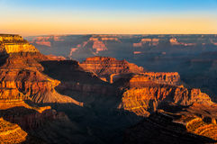 Beautiful colorful sunrise at Grand Canyon national park Royalty Free Stock Photography