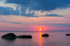 Beautiful colorful sunrise over the sea Royalty Free Stock Photo