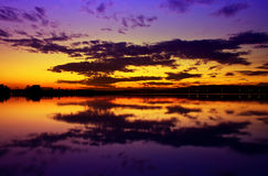 Beautiful colorful sunset Royalty Free Stock Images