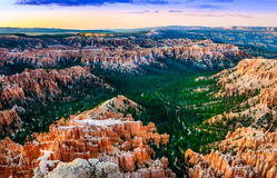 Beautiful colorful sunset at Bryce canyon, USA Stock Photography