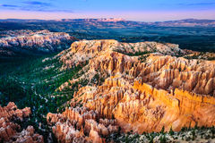 Beautiful colorful sunset landscape at Bryce canyon, USA Stock Images