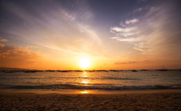 Beautiful colorful sunset sky and ocean Royalty Free Stock Images