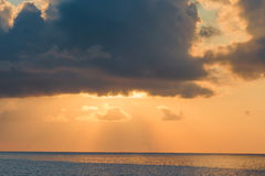 Beautiful colorful sunset in tropical island at Maldives Stock Photography