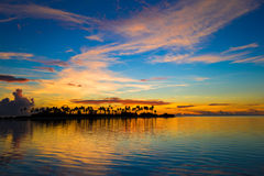Beautiful colorful sunset in tropical island at Royalty Free Stock Images