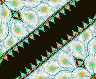 Beautiful colorful textile print scarf design vector illustration