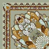 Beautiful colorful textile print scarf design Royalty Free Stock Photos