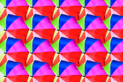 Beautiful colorful umbrellas texture background. Stock Images