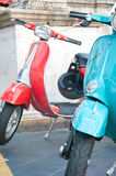 Beautiful and colorful vespa of piaggio Royalty Free Stock Photography