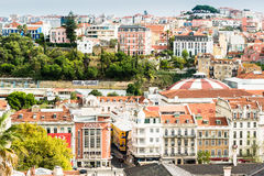 Beautiful colorful and vibrant cityscape of Lisbon, Portugal Royalty Free Stock Photo