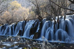 Beautiful & colorful water in JiuZhai, China Stock Photography