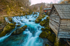 Beautiful colorful waterfalls in the Village Royalty Free Stock Photography