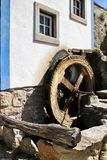 Beautiful waterwheel in Azenhas do Mar in Portugal. Beautiful and colorful waterwheel in Azenhas do Mar in Lisbon, Portugal tourism architecture outdoor vacation stock photography