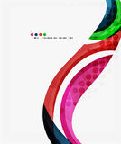 Beautiful colorful wave template. Vector abstract background for workflow layout, diagram, number options or web design Royalty Free Stock Photo