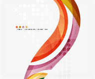 Beautiful colorful wave template. Vector abstract background for workflow layout, diagram, number options or web design Stock Photography