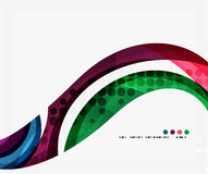 Beautiful colorful wave template. Vector abstract background for workflow layout, diagram, number options or web design Royalty Free Stock Photos