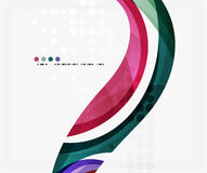 Beautiful colorful wave template. Vector abstract background for workflow layout, diagram, number options or web design Stock Photos