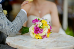 Beautiful colorful wedding bouquet Stock Photos
