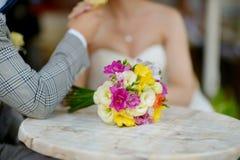 Beautiful colorful wedding bouquet Stock Photos