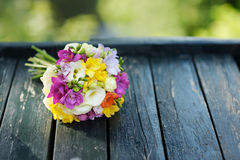 Beautiful colorful wedding bouquet Stock Images