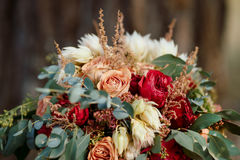 Beautiful colorful wedding bouquet Royalty Free Stock Image
