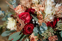 Beautiful colorful wedding bouquet Stock Photo