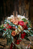 Beautiful colorful wedding bouquet Royalty Free Stock Photography
