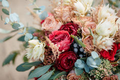 Beautiful colorful wedding bouquet Royalty Free Stock Photos