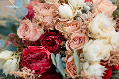 Beautiful colorful wedding bouquet Royalty Free Stock Photo