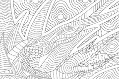 Beautiful coloring book page with abstract pattern vector illustration