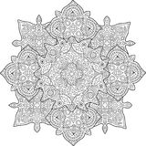 Beautiful coloring book page with rainy pattern stock photography