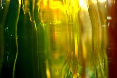 Beautiful colors of glass bottles. Stock Photography