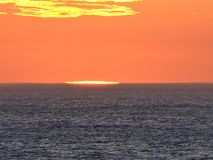 Sunset over the Atlantic Ocean stock images