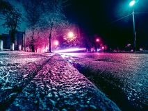 Colors of night city in Ukraine Royalty Free Stock Photos