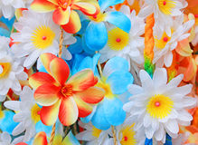 Beautiful colors of plastic flowers. Stock Image