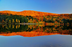Beautiful colors reflected in lake Royalty Free Stock Images