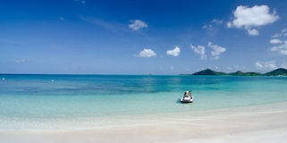 Beautiful  colors, sands and waters of Cocobay beach - 4 Stock Images
