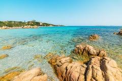 Beautiful colors in Spiaggia del Principe. Costa Smeralda royalty free stock photo