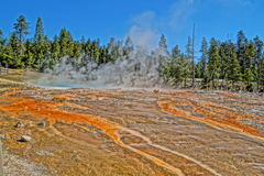 Beautiful colors in Yellowstone NP Royalty Free Stock Photos