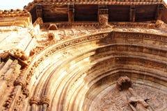 Beautiful and colossal porch in Renaissance house in Alcaraz street, Castile-La Mancha region. Beautiful and colossal porch in Renaissance house in Alcaraz Royalty Free Stock Images