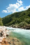 Beautiful colour of stream Neretva river Royalty Free Stock Photo