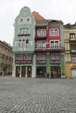 Beautiful coloured buildings, Timisoara Stock Images