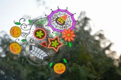 Beautiful coloured Mexican Halloween skull Stock Photography
