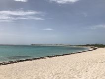 Anegada beach at the British Virgin Islands Royalty Free Stock Image