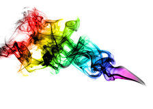 Beautiful coloured smoke Stock Photography