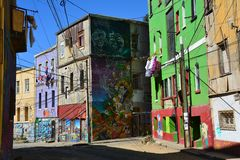 Valparaiso Old Town in Chile stock photos